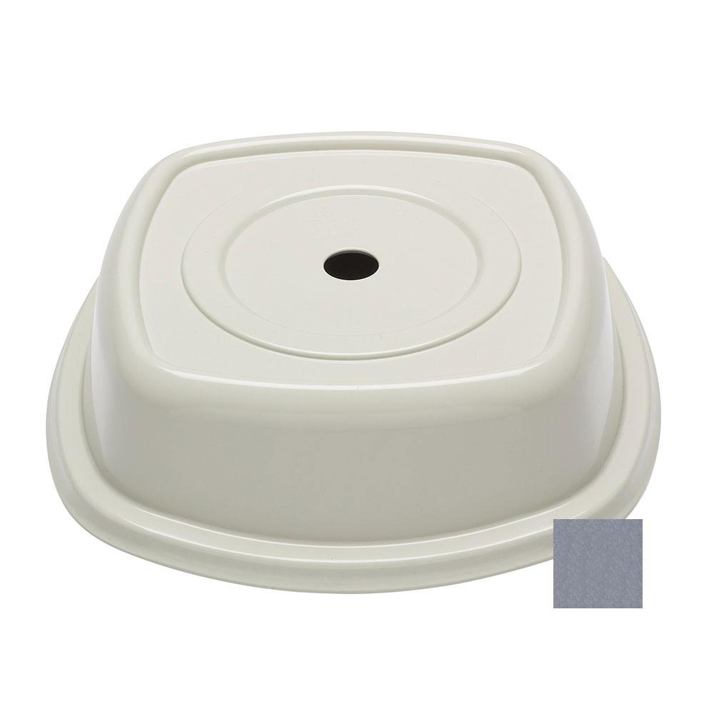 """Cambro 124VS191 12-1/4"""" Round Versa Plate Cover - Granite Gray"""