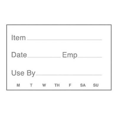 "Cambro 1252SLB250 StoreSafe Food Rotation Labels - 1-1/4x2"" (250 Per Roll)"