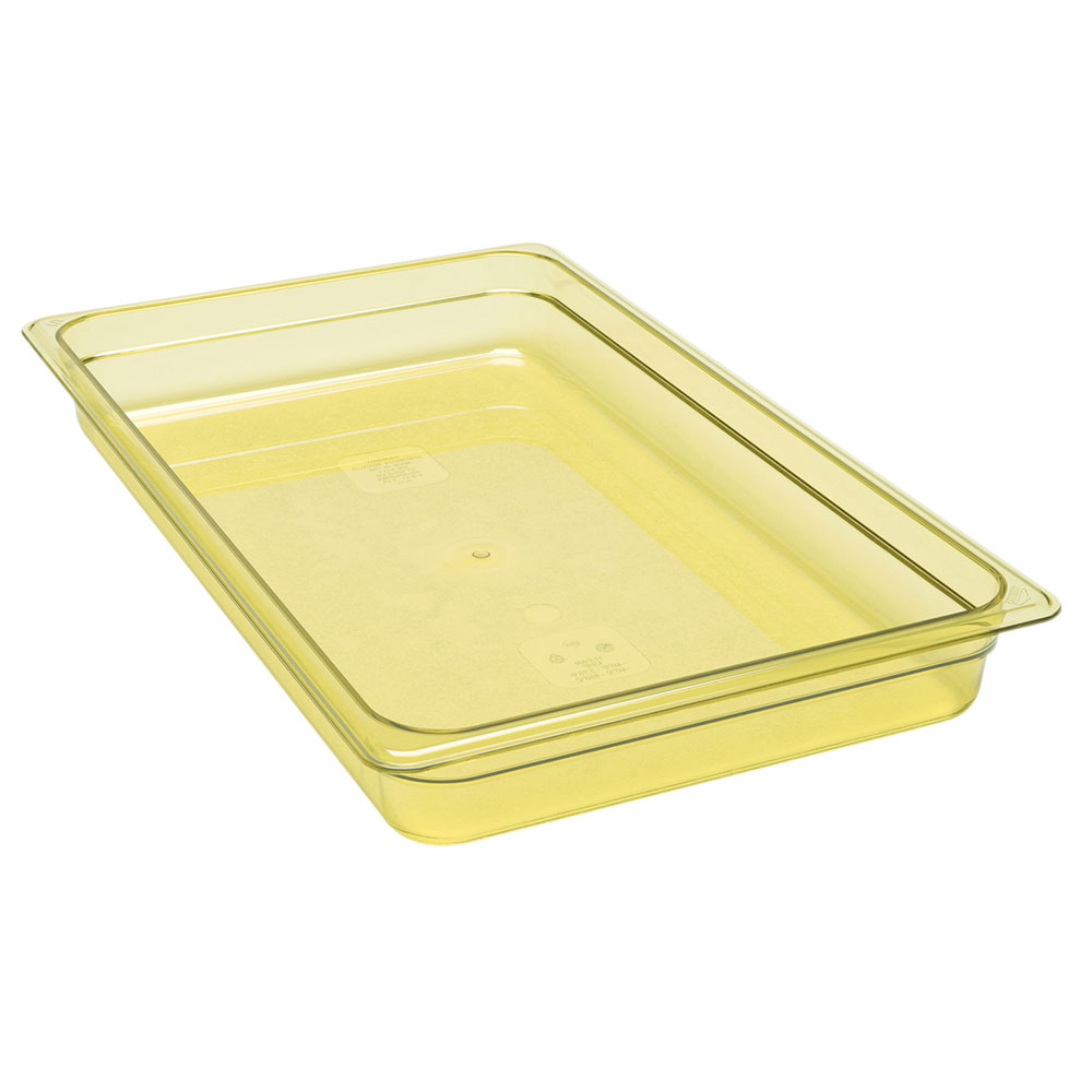 "Cambro 12HP150 H-Pan Hot Food Pan - Full Size, 2-1/2"" Non-Stick, Amber"