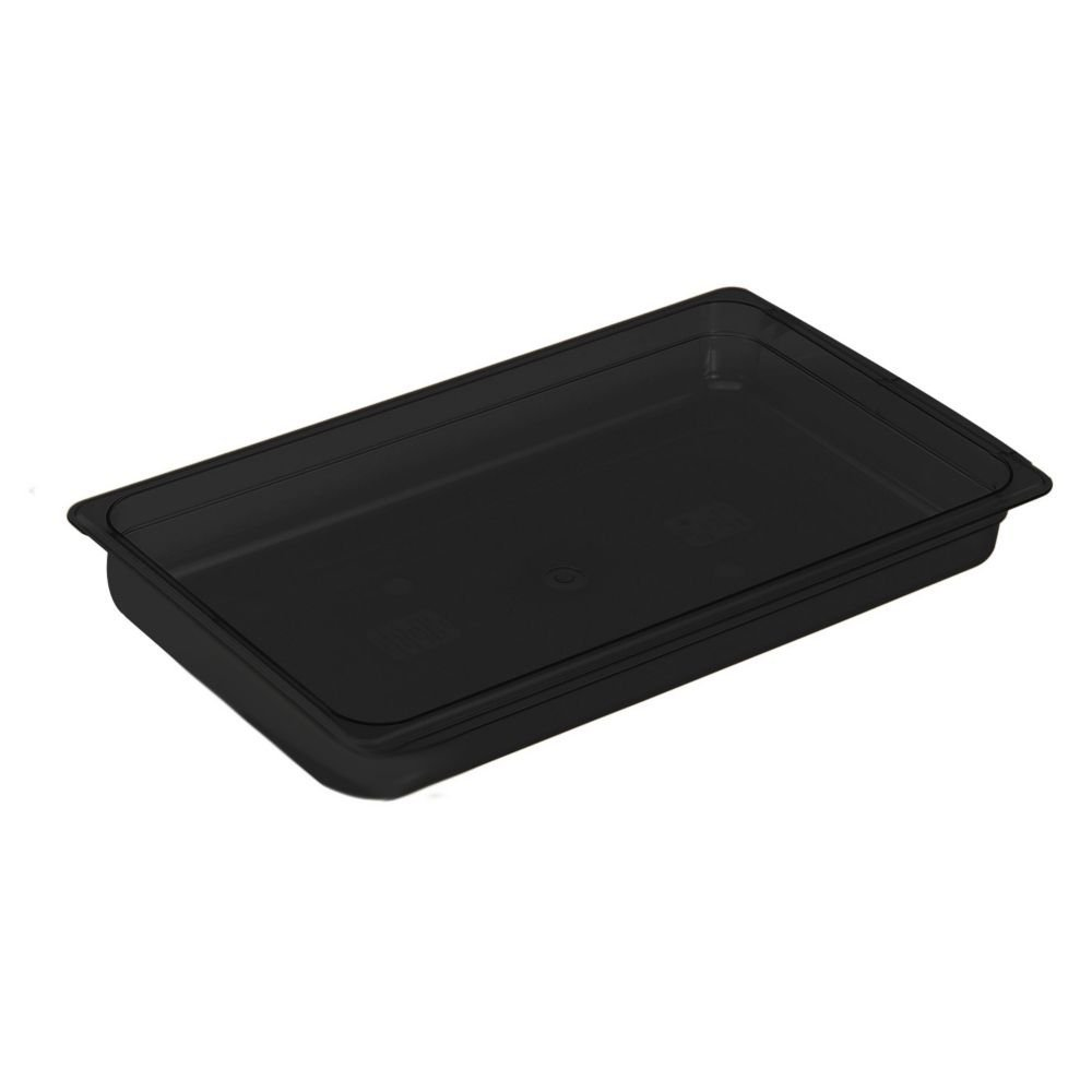 "Cambro 12HP771 X-Pan Full Size Food Pan - 2.5""D, Non-Stick, Onyx"
