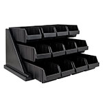 "Cambro 12RS12110 Organizer Rack - 12 Bins, 25-1/8x21-3/8x14-1/4"" Black"
