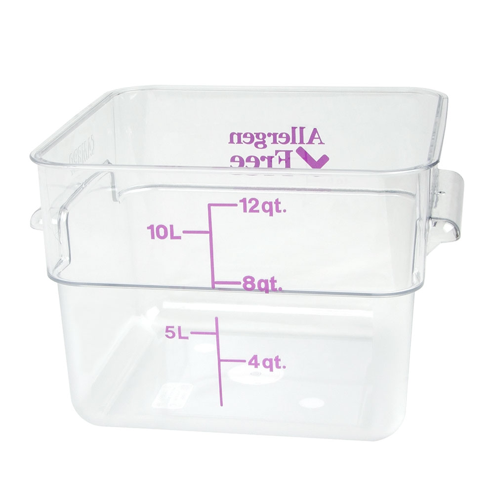 Cambro 12SFSCW441 12-qt Food Container - Allergen-Free, Polycarbonate, Clear