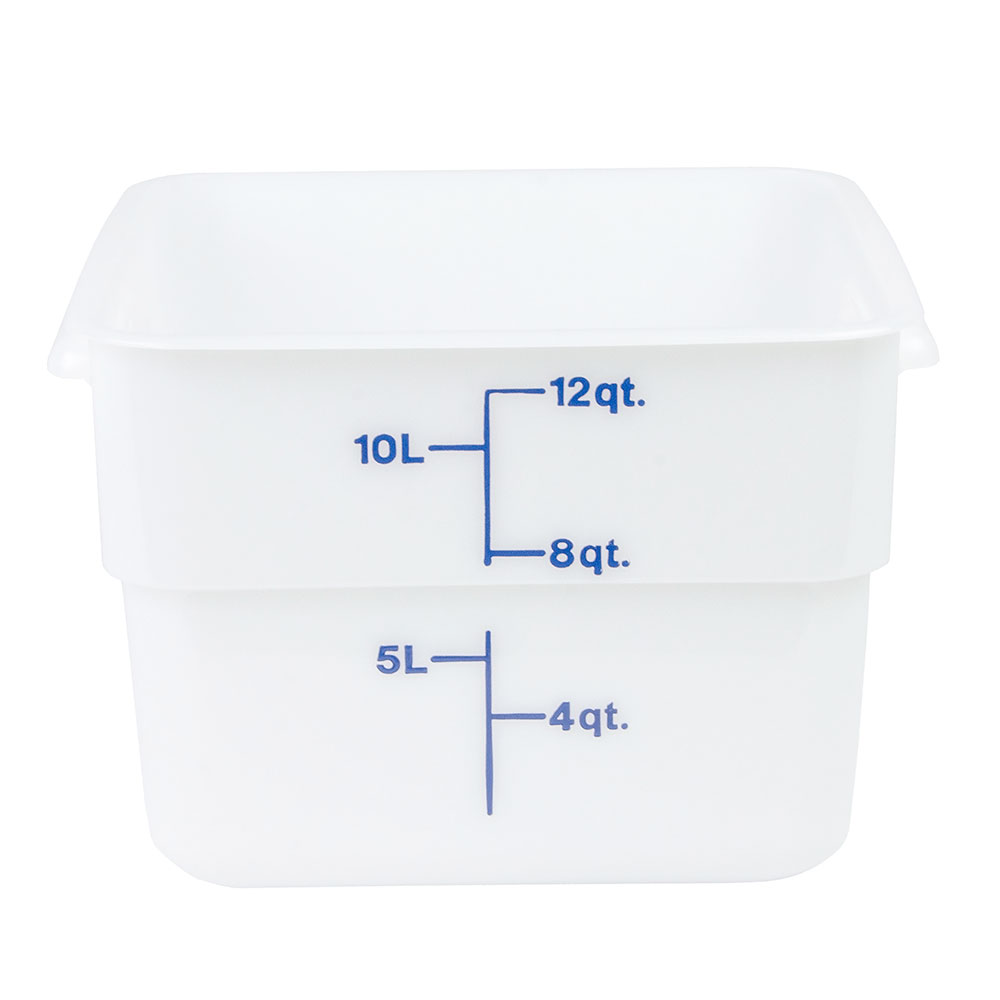 Cambro 12SFSP148 12-qt CamSquare Food Container - Polyethylene, Natural White