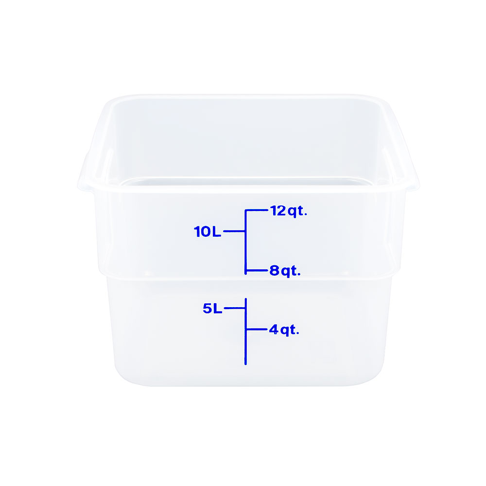 Cambro 12SFSPP190 12-qt CamSquare Food Container - Polypropylene, Translucent