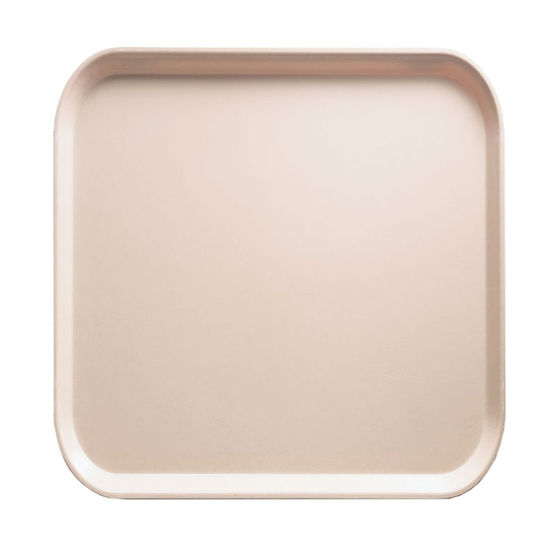 Cambro 1313106 33cm Square Serving Camtray - Light Peach