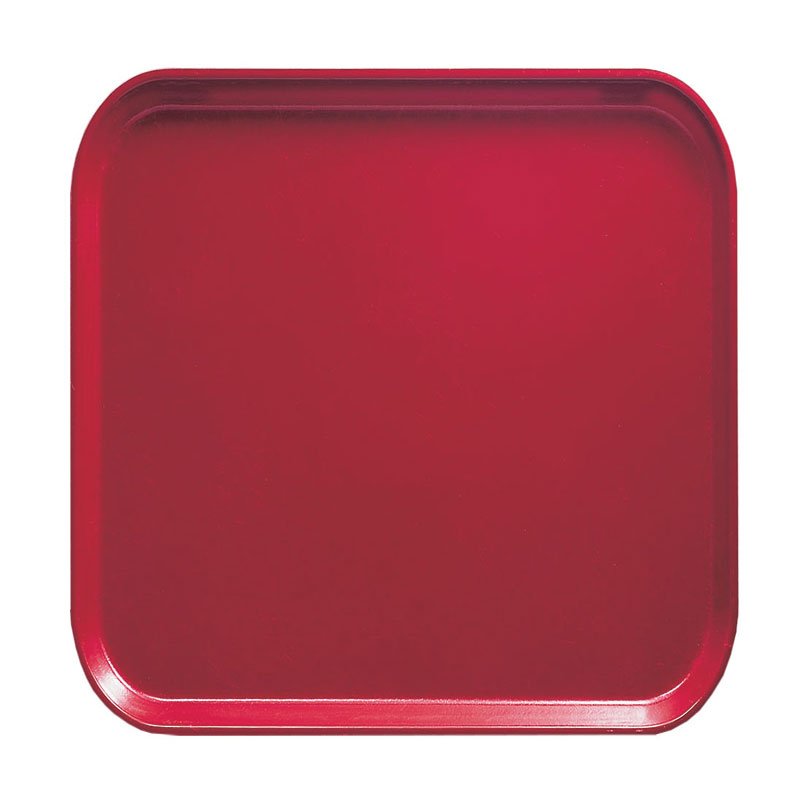 Cambro 1313221 33cm Square Serving Camtray - Ever Red