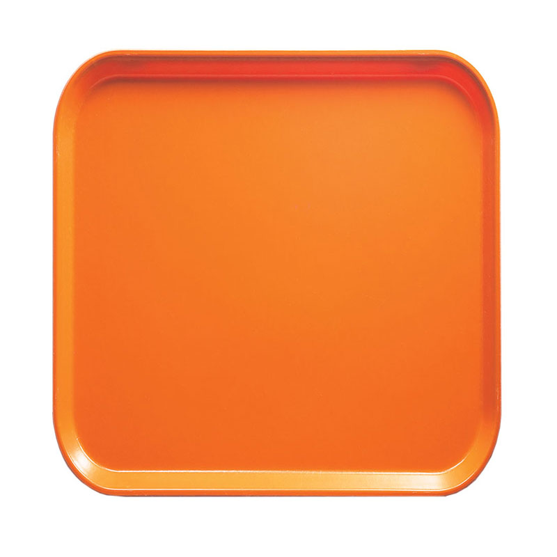 Cambro 1313222 33cm Square Serving Camtray - Orange Pizzazz