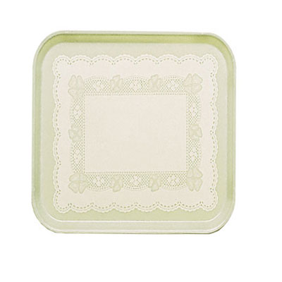 Cambro 1313241 33cm Square Serving Camtray - Doily Antique Parchment