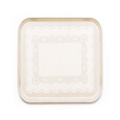 Cambro 1313246 33cm Square Serving Camtray - Doily Light Peach