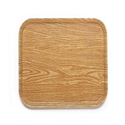Cambro 1313307 33cm Square Serving Camtray - Light Elm