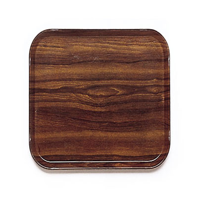 Cambro 1313308 33cm Square Serving Camtray - Burma Teak