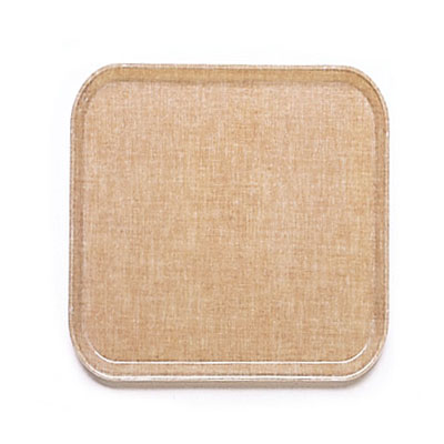 Cambro 1313329 33cm Square Serving Camtray - Linen Toffee