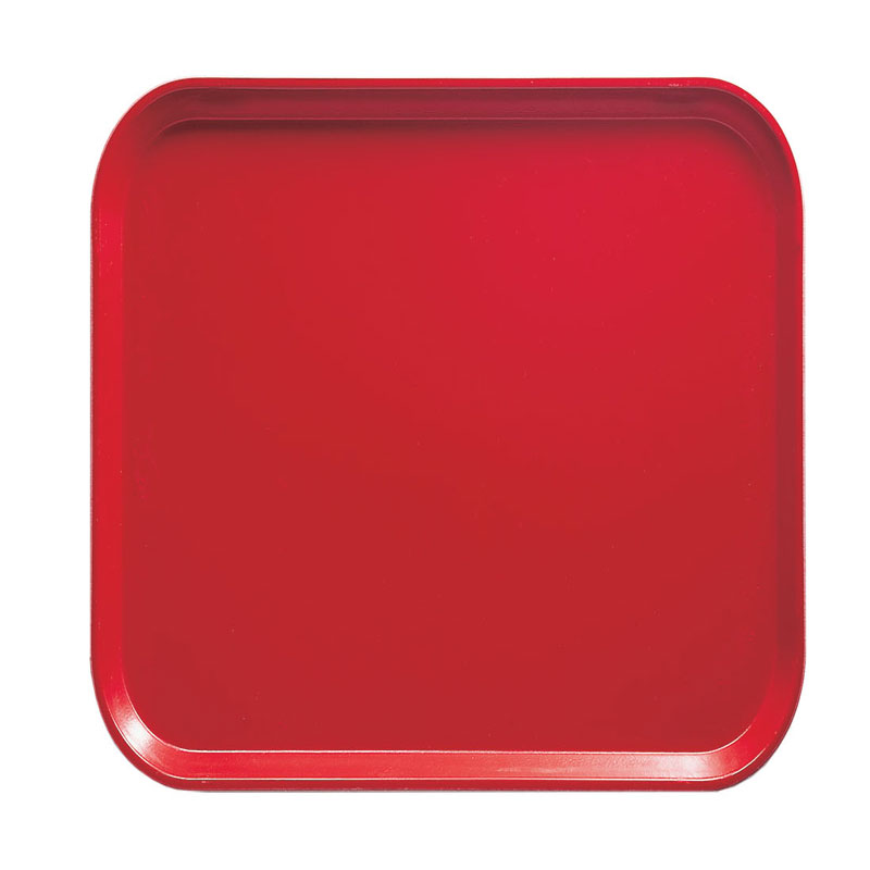 Cambro 1313510 33cm Square Serving Camtray - Signal Red