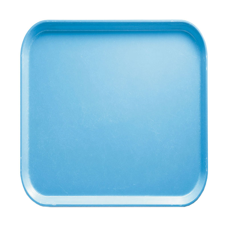 Cambro 1313518 33cm Square Serving Camtray - Robin Egg Blue