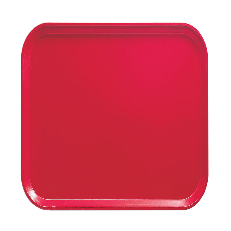 Cambro 1313521 33cm Square Serving Camtray - Cambro Red