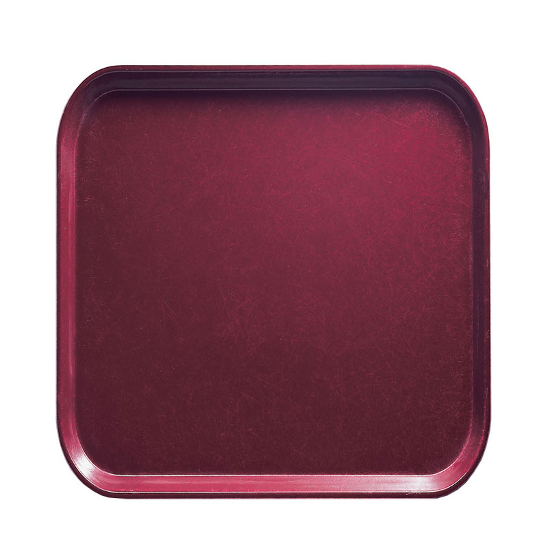 Cambro 1313522 33cm Square Serving Camtray - Burgundy Wine