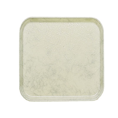 Cambro 1313531 33cm Square Serving Camtray - Galaxy Antique Parchment Silver