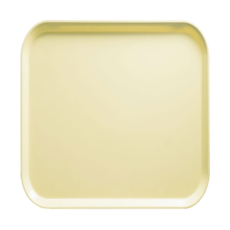 Cambro 1313536 33cm Square Serving Camtray - Lemon Chiffon