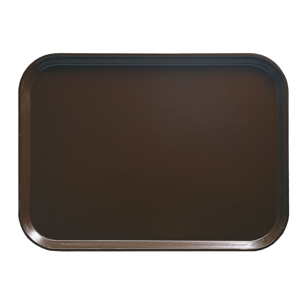 "Cambro 1318116 Rectangular Camtray - 12-5/8x17-3/4"" Brazil Brown"
