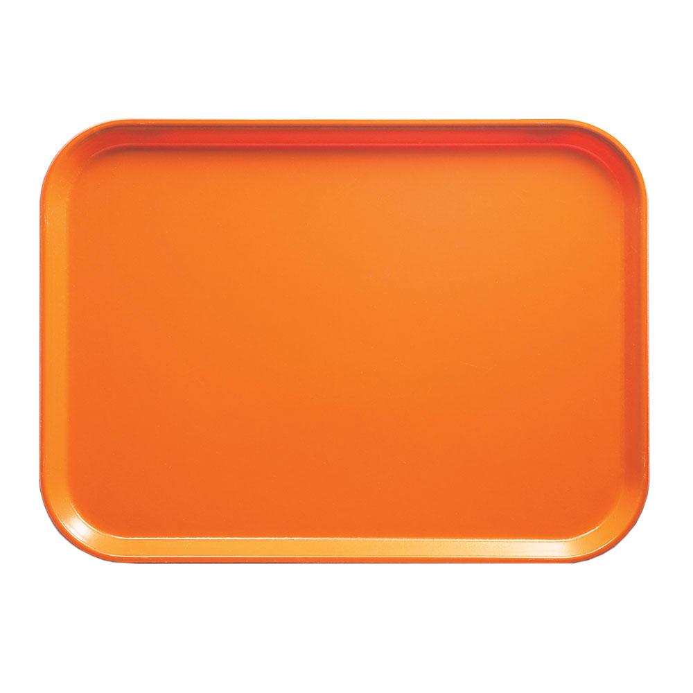 """Cambro 1318222 Rectangular Camtray - 12-5/8x17-3/4"""" Orange Pizzazz"""