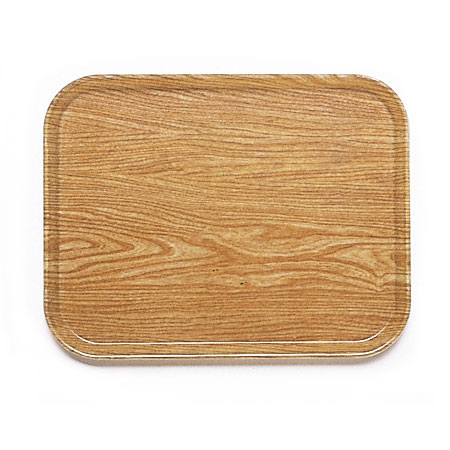 "Cambro 1318307 Rectangular Camtray - 12-5/8x17-3/4"" Light Elm"