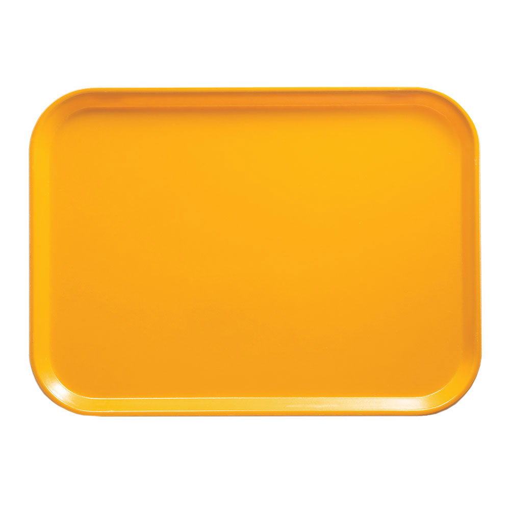 """Cambro 1318504 Rectangular Camtray - 12-5/8x17-3/4"""" Mustard"""