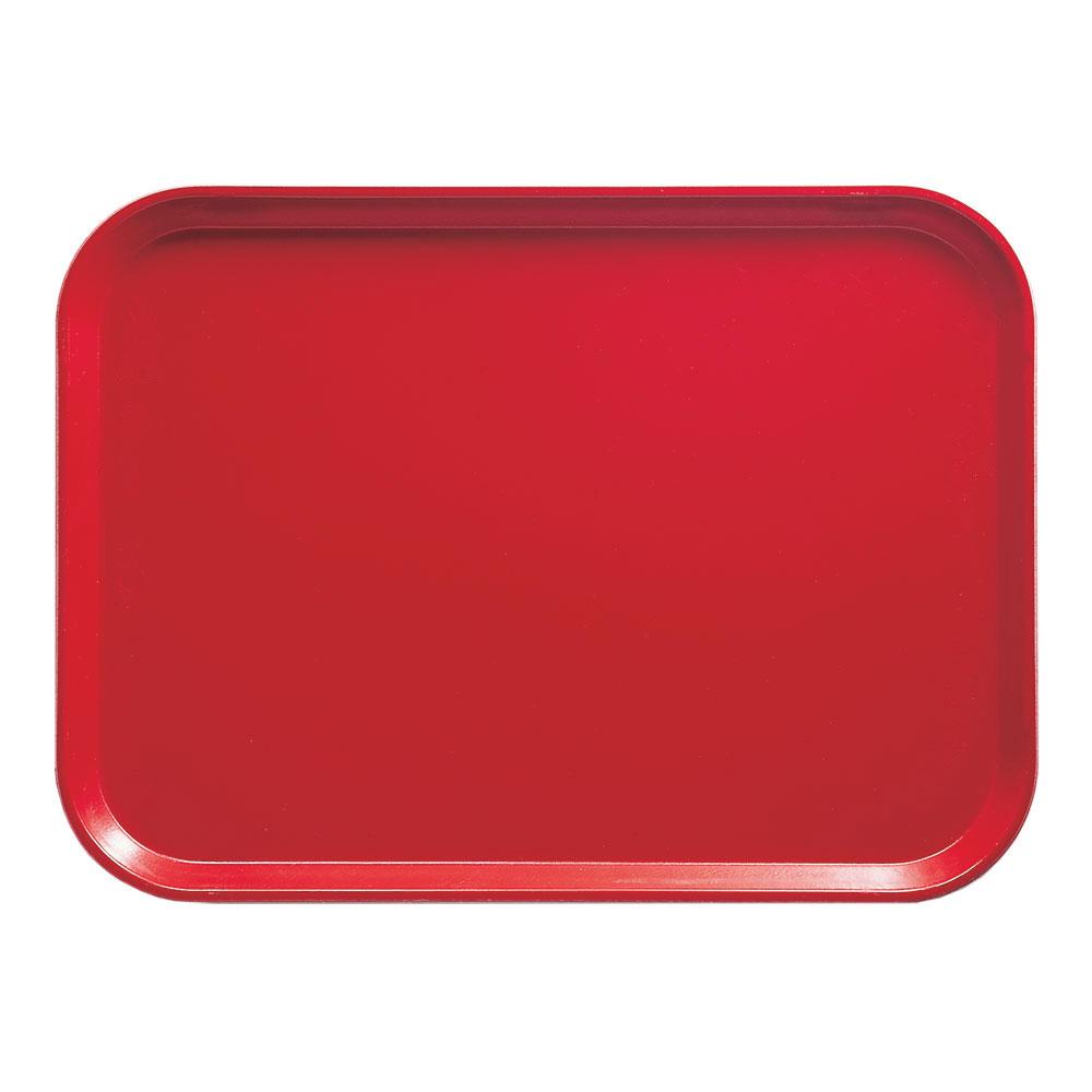"Cambro 1318510 Rectangular Camtray - 12-5/8x17-3/4"" Signal Red"