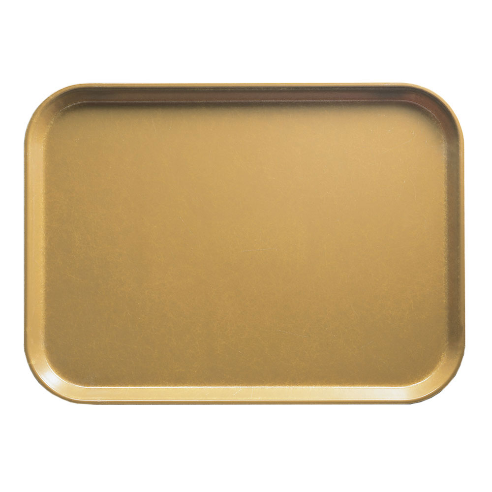 "Cambro 1318514 Rectangular Camtray - 12-5/8x17-3/4"" Earthen Gold"