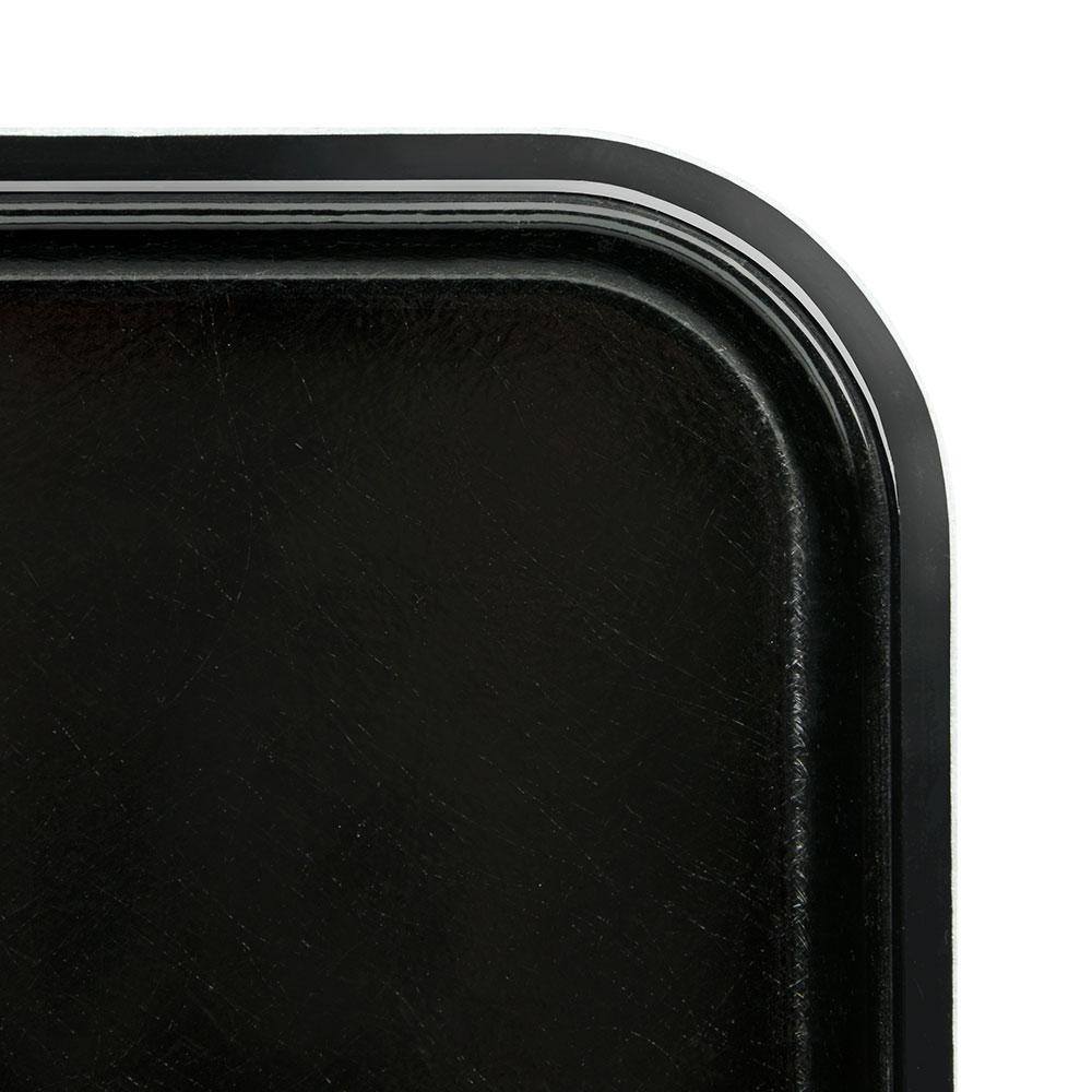 "Cambro 1318MT110 Rectangular Market Display Tray - 12-5/8x17-3/4x11/16"" Black"