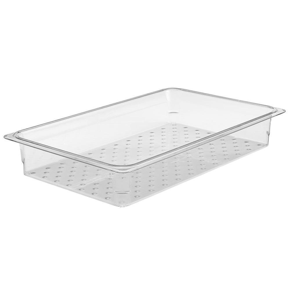 "Cambro 13CLRCW135 Camwear Colander - Full Size, 3""D, Clear"