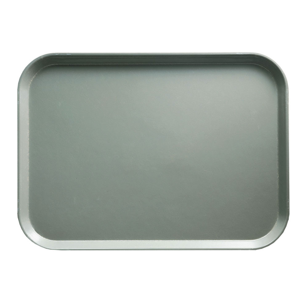"Cambro 1418107 Rectangular Camtray - 14x18"" Pearl Gray"