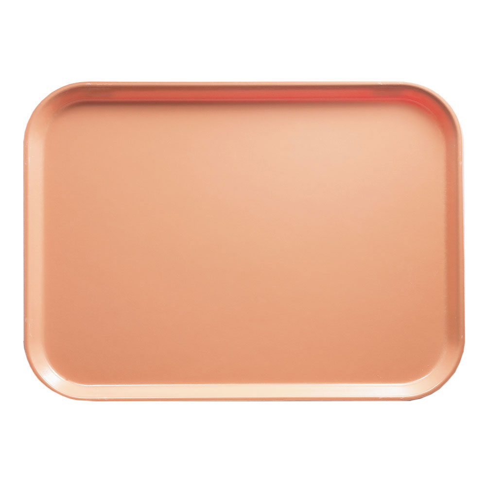 "Cambro 1418117 Rectangular Camtray - 14x18"" Dark Peach"