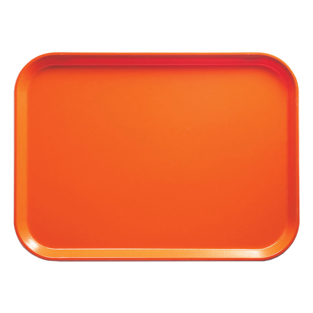 "Cambro 1418220 Rectangular Camtray - 14x18"" Citrus Orange"