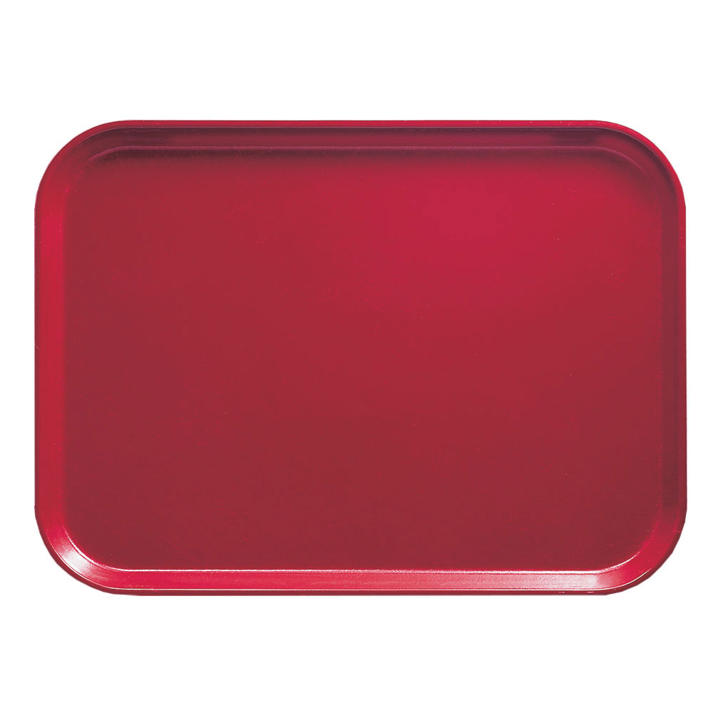 "Cambro 1418221 Rectangular Camtray - 14x18"" Ever Red"