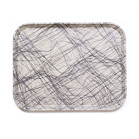 "Cambro 1418277 Rectangular Camtray - 14x18"" Swirl Gray"