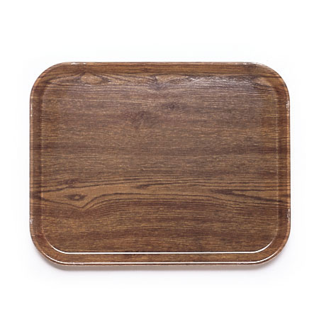 "Cambro 1418304 Rectangular Camtray - 14x18"" Country Oak"