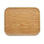 "Cambro 1418307 Rectangular Camtray - 14x18"" Light Elm"