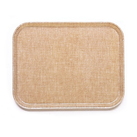 "Cambro 1418329 Rectangular Camtray - 14x18"" Linen Toffee"