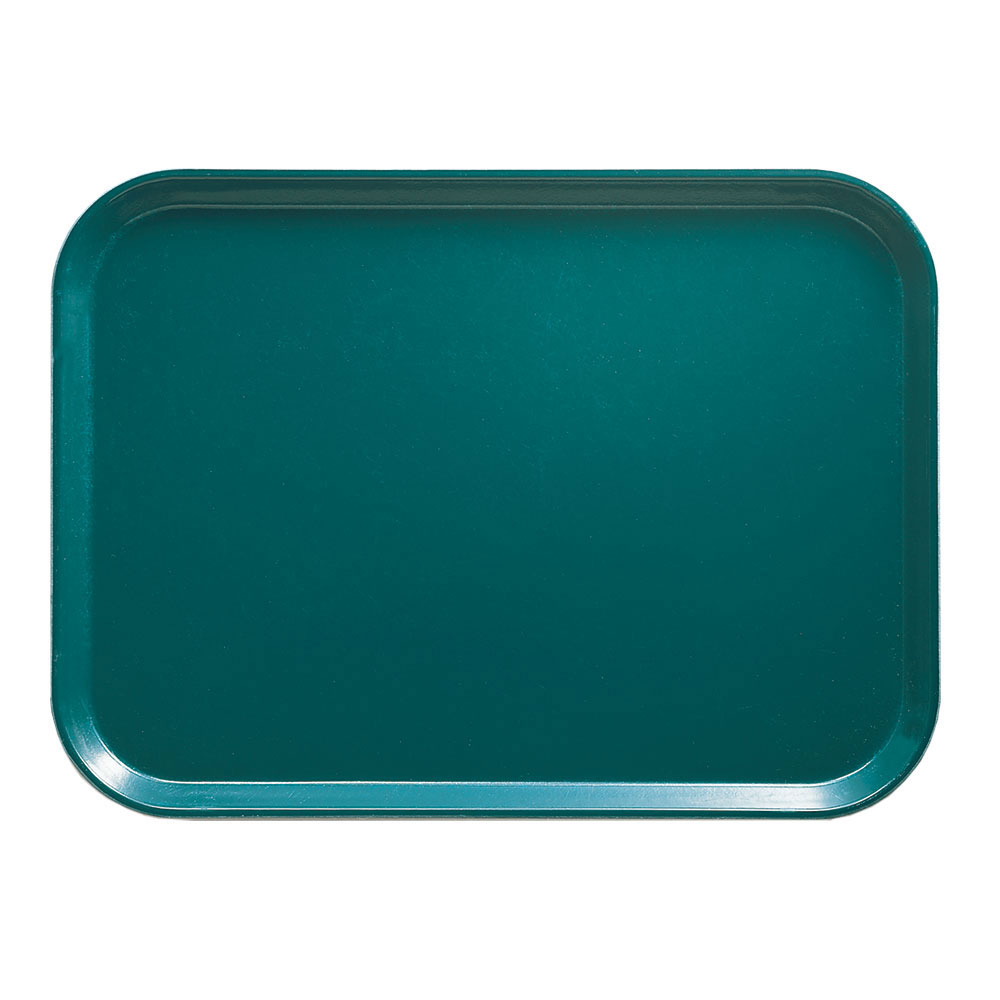 "Cambro 1418414 Rectangular Camtray - 14x18"" Teal"
