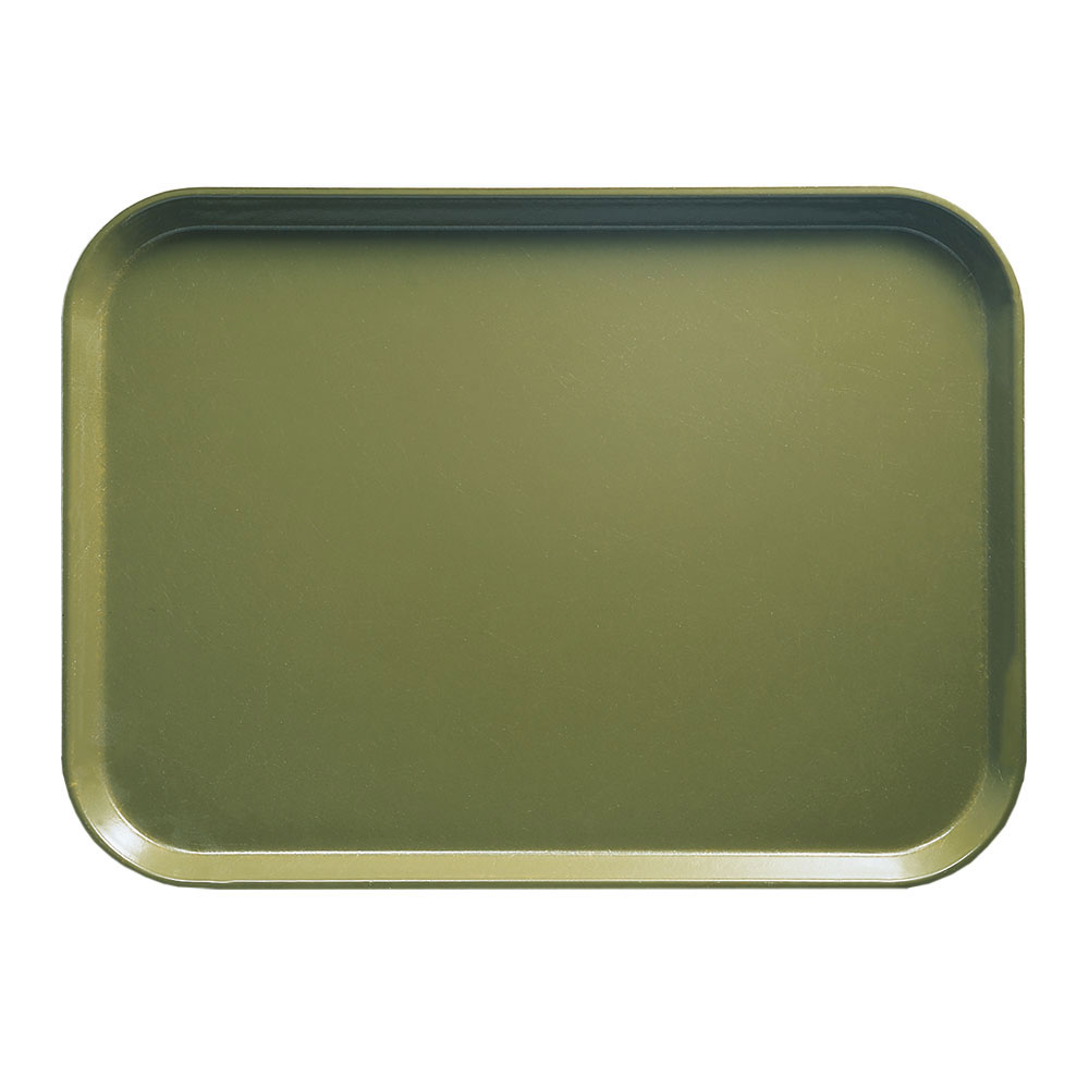 "Cambro 1418428 Rectangular Camtray - 14x18"" Olive Green"