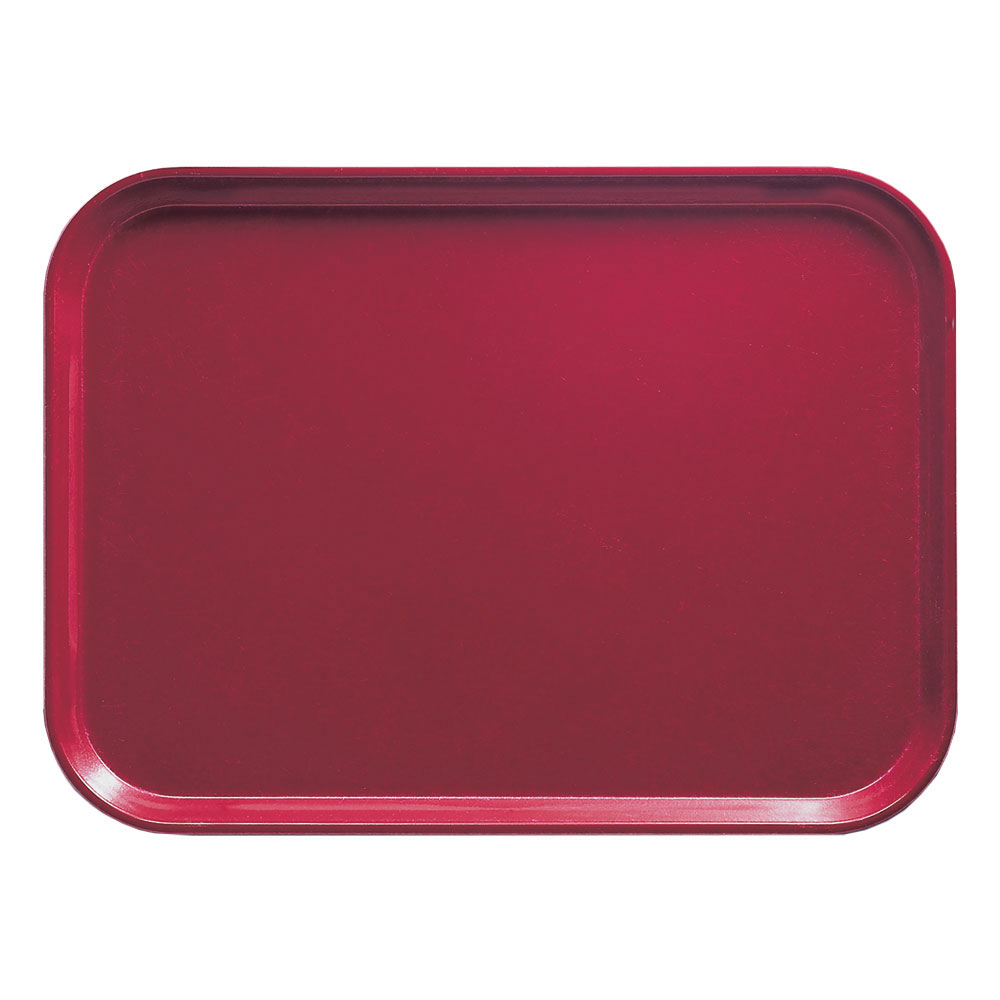 "Cambro 1418505 Rectangular Camtray - 14x18"" Cherry Red"