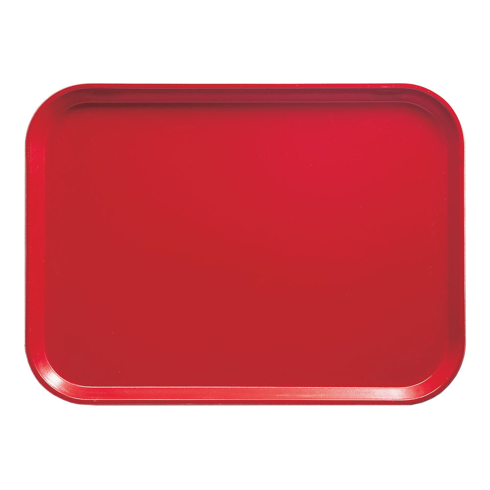 "Cambro 1418510 Rectangular Camtray - 14x18"" Signal Red"