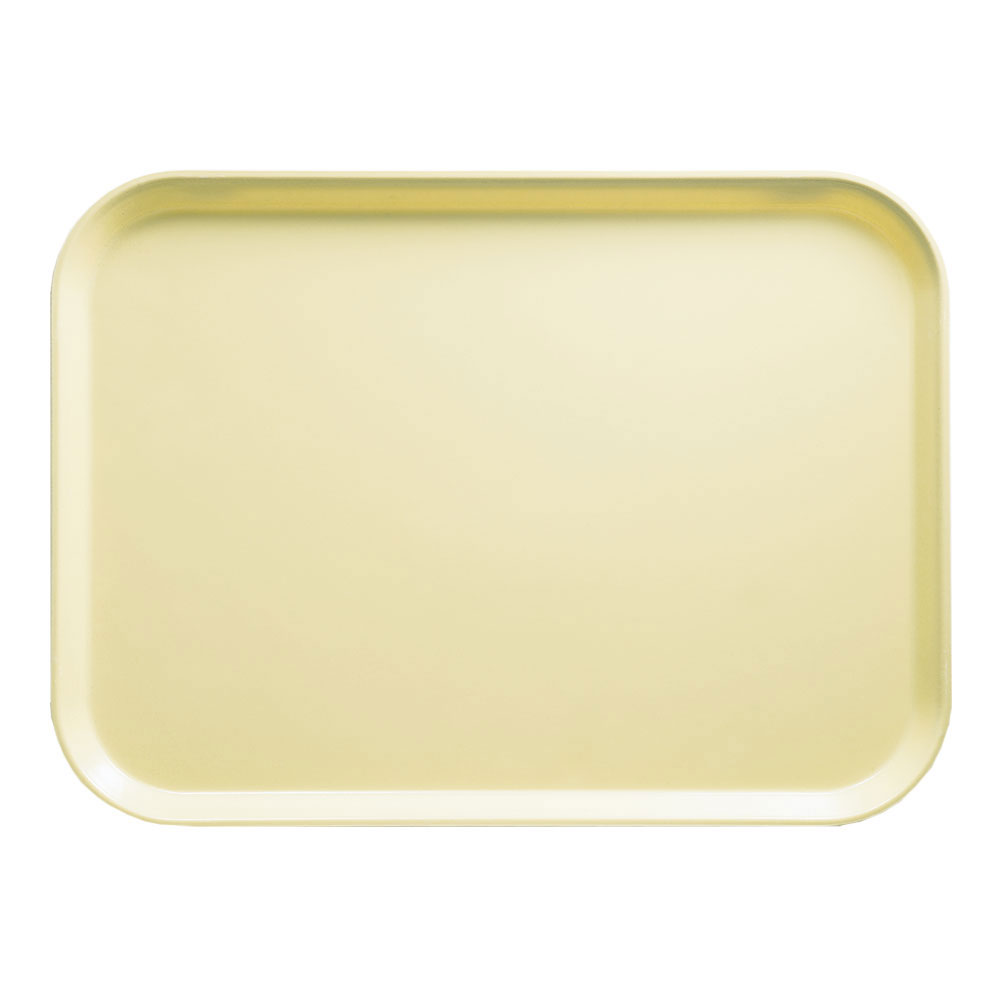 "Cambro 1418536 Rectangular Camtray - 14x18"" Lemon Chiffon"
