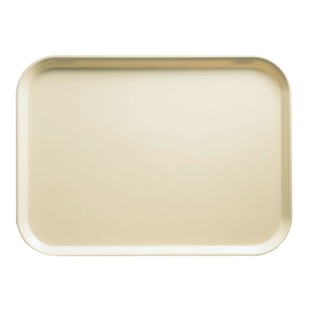 "Cambro 1418537 Rectangular Camtray - 14x18"" Cameo Yellow"