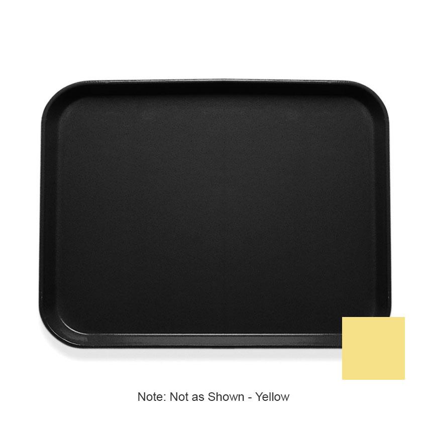 """Cambro 1418CL145 Rectangular Camlite Tray - 14x18"""" Yellow"""