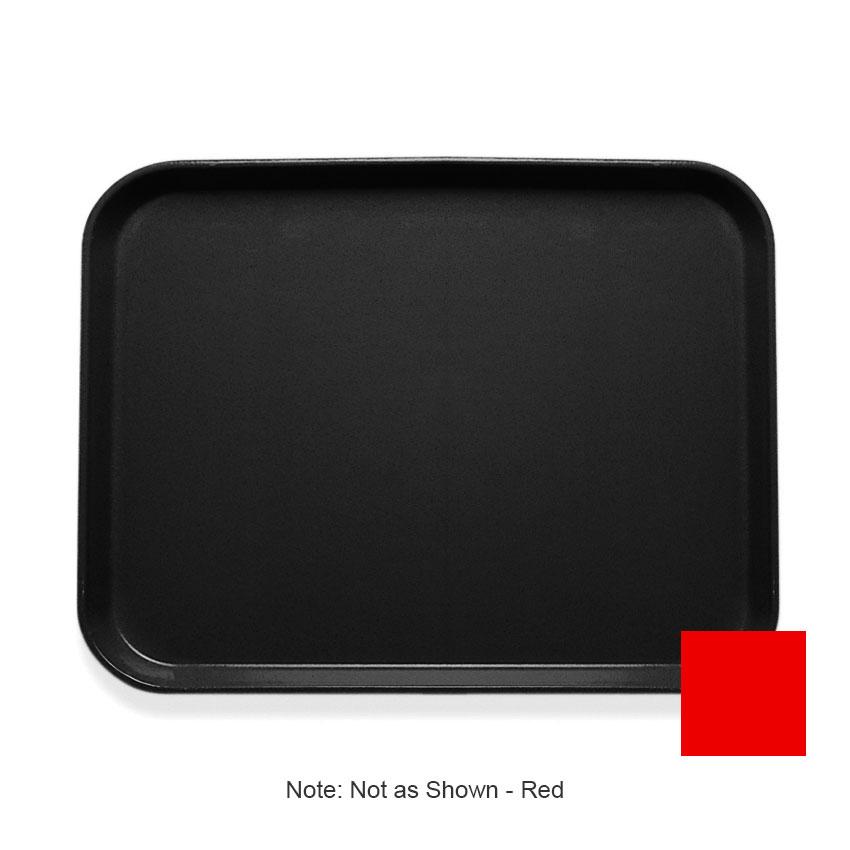 """Cambro 1418CL163 Rectangular Camlite Tray - 14x18"""" Rose Red"""