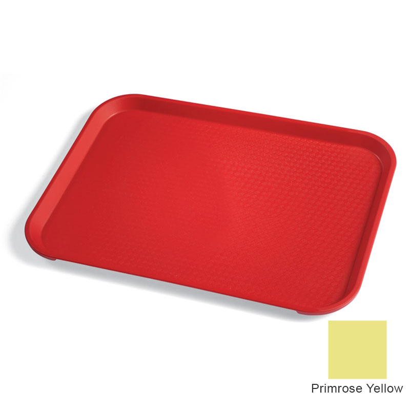 "Cambro 1418FF108 Rectangular Fast Food Tray - 13-13/16x17-3/4"" Primrose Yellow"
