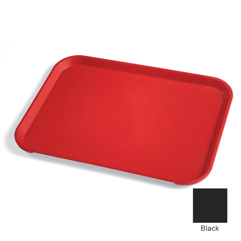 "Cambro 1418FF110 Rectangular Fast Food Tray - 13-13/16x17-3/4"" Black"