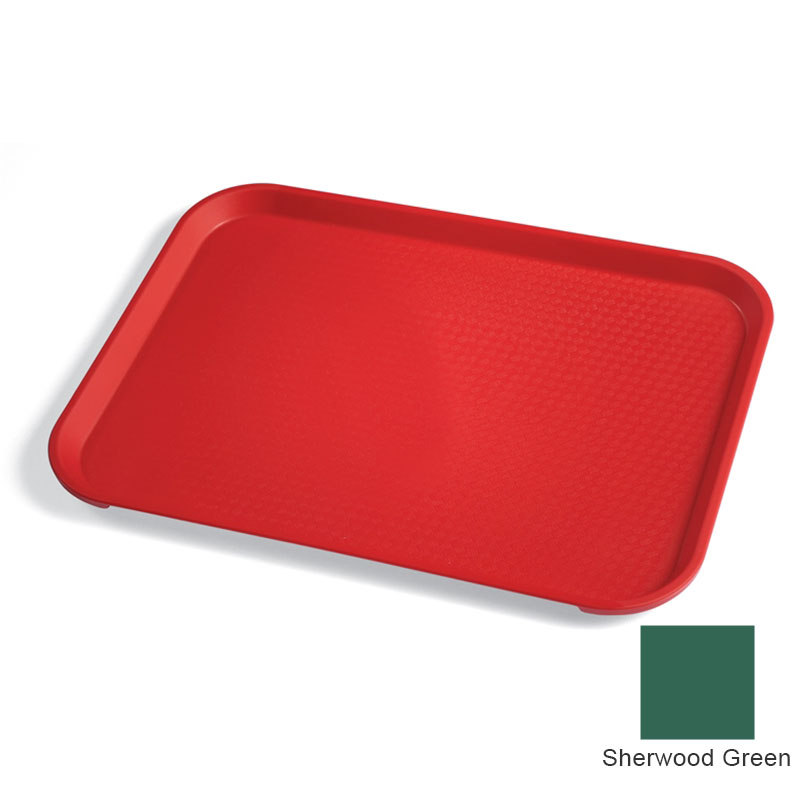 "Cambro 1418FF119 Rectangular Fast Food Tray - 13-13/16x17-3/4"" Sherwood Green"
