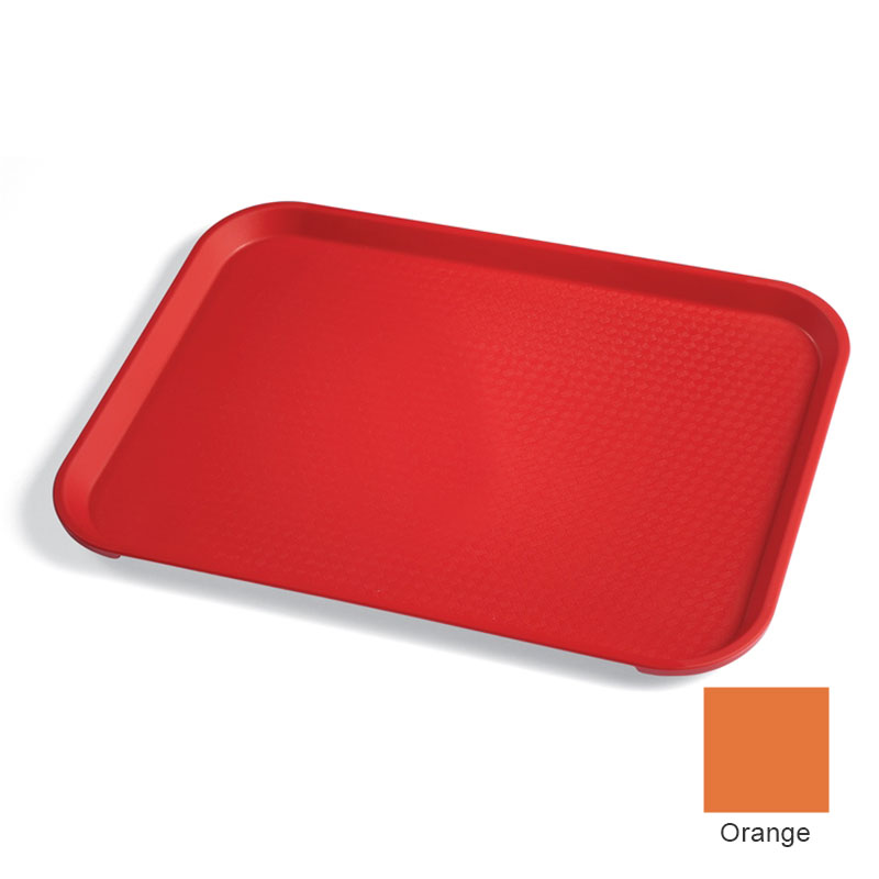 "Cambro 1418FF166 Rectangular Fast Food Tray - 13-13/16x17-3/4"" Orange"